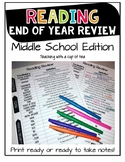 End of Year Reading Review: Middle School Edition {STAAR Review}
