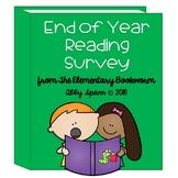 End of Year Reading Survey {FREEBIE}