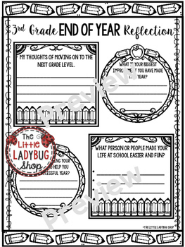 End of Year Reflection Activity Poster