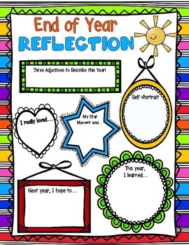 End of Year Reflection: No-Prep, All Fun End of Year Activity!