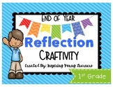 End of Year Reflection 3D Cube Craftivity- First Grade
