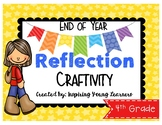End of Year Reflection 3D Cube Craftivity- Fourth Grade