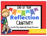 End of Year Reflection 3D Cube Craftivity- Third Grade