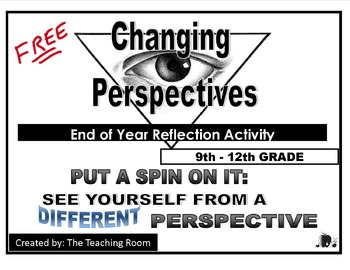 End of Year Reflection Activity - Middle & High School