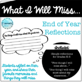 End of Year Reflection Bulletin Board for Grades K-5