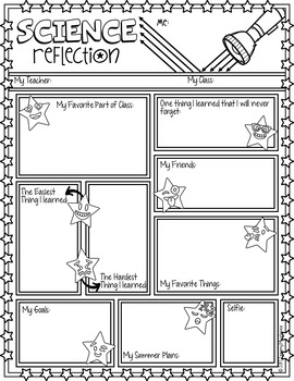 END OF YEAR REFLECTION DOODLE NOTES