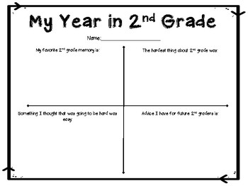 End of Year Reflection Pages