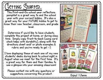 End of Year Reflection Pamphlet AND Back to School Display for the year ahead!