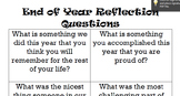 End of Year Reflection Questions