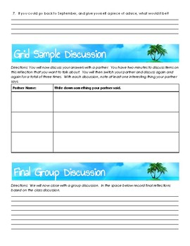End of Year Reflection Questions/Discussion