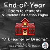 End of Year Poem to Middle or High School Students with Student Reflection Pages