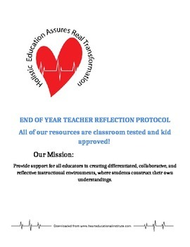 End of Year Reflective Questions