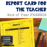 End of Year Report Card FREEBIE