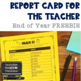 End of Year Report Card Print & Digital FREEBIE