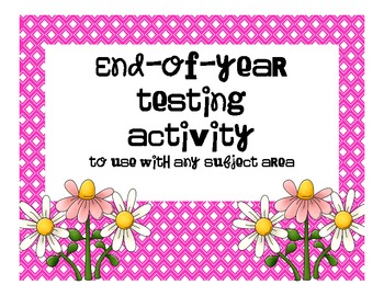 End of Year Review Activity for Any Subject Area