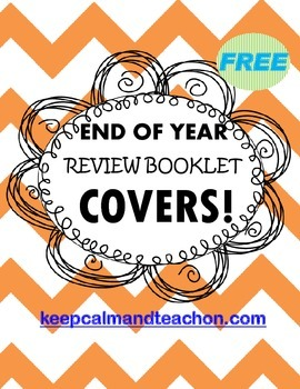 End of Year Review Booklet / Packet Covers *FREE*
