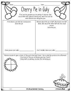 End of Year Review: First Grade Geometry