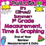End of Year Review: First Grade Measurement, Time, Data