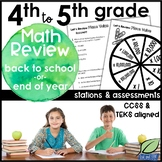 Back to School Review for 5th Grade Math