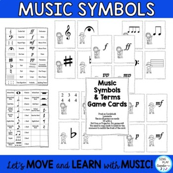 "Music Theory Notation  and Music Symbols Game ""Slam It""  K-6"