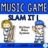 "Music Game ""Slam It!"" Notes, Symbols, Flashcards"