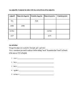 French Grammar Work Booklet