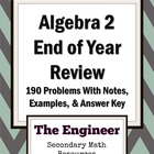 End of Year Review Packet for Algebra 2