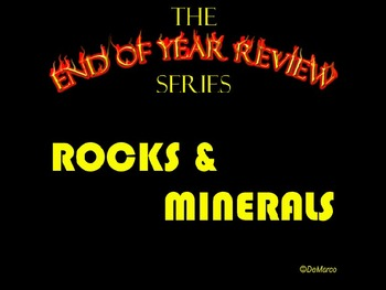 End of Year Review Series - Rocks and Minerals