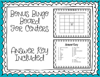 Common Core Test Prep Task Cards: 5th Grade Math Review