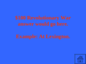 Revolutionary War American Revolution Powerpoint Activity