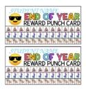 End of Year Reward Punch Card