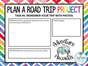 End of Year Road Trip Project to National Parks™ - Project for Google Slides™