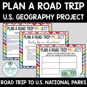 Road Trip Project for Google Slides™ U.S. Geography Digital Learning