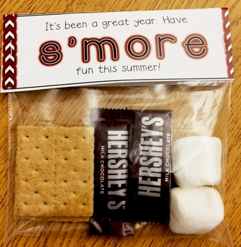 End of Year S'More Label