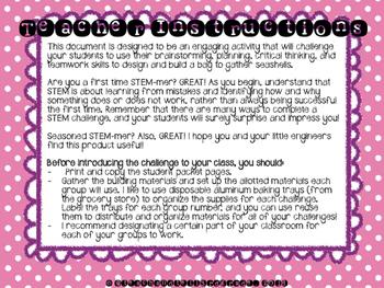 End of Year STEM - Seashell STEM Challenge