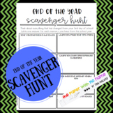 End of Year Scavenger Hunt Worksheet