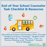 End-of-Year School Counselor Task Checklist & Resources