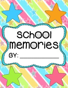 End of Year School Memories Book