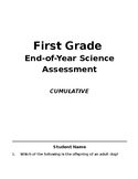 End-of-Year Science Assessment, First Grade TEKS