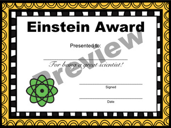 End of Year Science Awards {25 Fully Editable Certificates - For Any Grade}