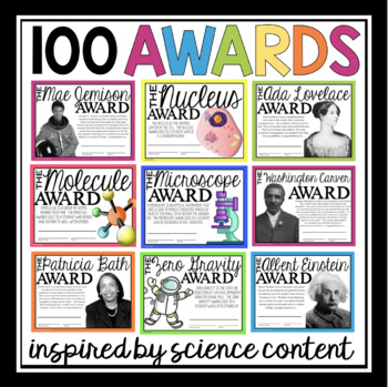 End of Year Science Awards Bundle