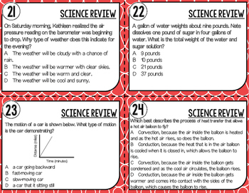 End of Year Science Review Task Cards // Grade 5