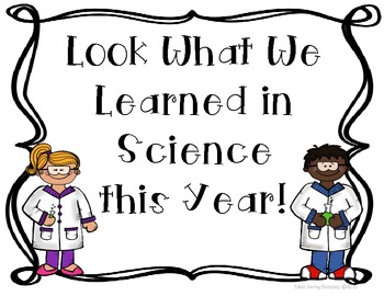 End of Year Science Writing Paper and Bulletin Board Set