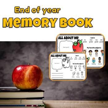 End of Year Memory Book (Scrapbook)
