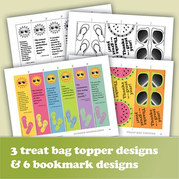 End-of-Year Send-off: Writing Activities, Bookmarks, & Treat Bag Toppers