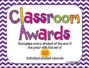 End of Year - Set of 50 Editable Class Awards