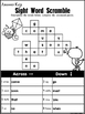 End of Year Sight Word Review Crossword Puzzles-Aligned to Journeys Kindergarten