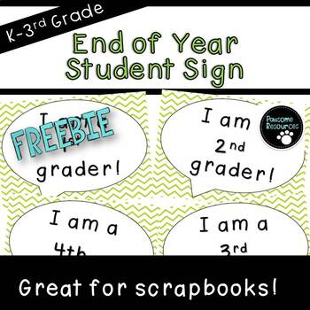 End of Year Sign (***FREEBIE***)