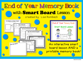 End of Year Memory Book and Smart Board Lesson
