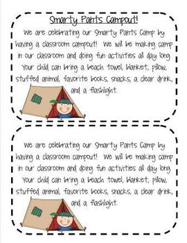 End of Year Smarty Pants Camp for Second Grade